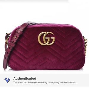 Gucci GG Marmot Velvet Crossbody Bag, Brand New